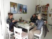 Open Studios/Offene Ateliers. Atelierhaus im Hinterhof, Schoenhauser Allee, Berlin, Germany. Mit Almut Mueller, Peter Moeller und Gittan Joenson