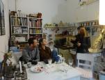 Open Studios/Offene Ateliers. Atelierhaus im Hinterhof, Schoenhauser Allee, Berlin, Germany. Mit Sylvia Christina Haendel, Carola Ruemper u.a.