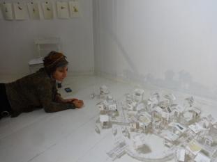Open Studios/Offene Ateliers. Atelierhaus im Hinterhof, Schoenhauser Allee, Berlin, Germany. Mit Corinne Douarre