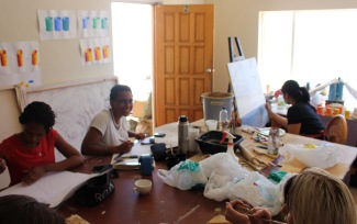 Workshop 2016 in Kirsten Wechslbergers Art Studio in Windhoek