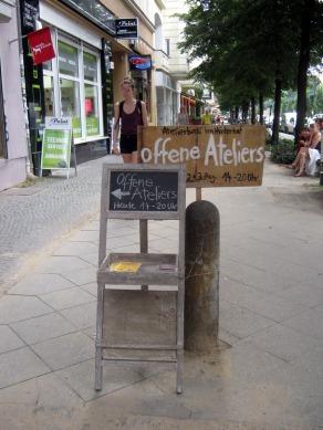 Open Studios/Offene Ateliers. Atelierhaus im Hinterhof, Schoenhauser Allee, Berlin, Germany