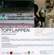 "Project Space Festival Berlin 2016. Mp43, ""Topflappen"". Participatry art, Kirsten Wechslberger and Sandra Schmidt"