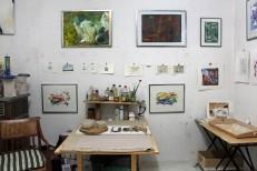 Lange Nacht der Illustration 2016, Berlin. Atelierhaus im Hinterhof. Workshopatelier Sandra Schmidt, Arbeiten von Saga Burger