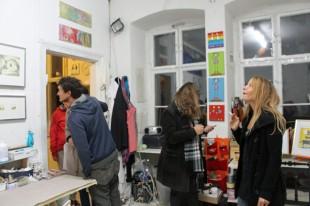 Lange Nacht der Illustration 2016, Berlin. Atelierhaus im Hinterhof. Workshop Atelier Sandra Schmidt