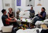 """Lange Nacht der Illustration 2016, Berlin. Atelierhaus im Hinterhof. Atelier Sandra Schmidt. """"Demarginalize-Spiel von und mit Kirsten Wechslberger"""