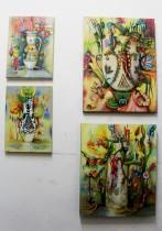 Lange Nacht der Illustration 2016, Berlin. Atelierhaus im Hinterhof. Atelier und Arbeiten von Jutta Scheiner