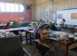 Workshop Print Making for public/artists. College of the Arts Windhoek/Namibia 2015