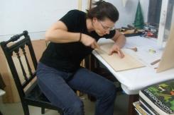 Workshops Sandra Schmidt. Atelierhaus im Hinterhof/Berlin.