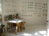 Open Studios/Offene Ateliers. Atelierhaus im Hinterhof, Schoenhauser Allee, Berlin, Germany.
