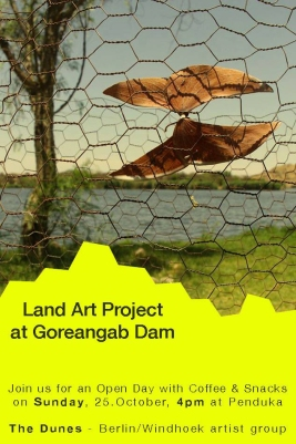 """The Dune"" Land Art Project, Goreangab dam, Windhoek/Namibia 2015"