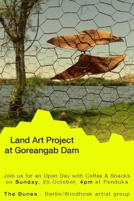 """The Dune"" Land Art Project, Goreangab dam, Windhoek/Namibia 2015"