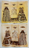 """Herero Dresses"", Milk box print, 23cm x 19cm, Windhoek/Namibia 2015"