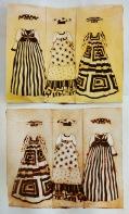 """Herero Dresses"", Milk box print, 23cm x 19cm, Windhoek/Namibia 2015"