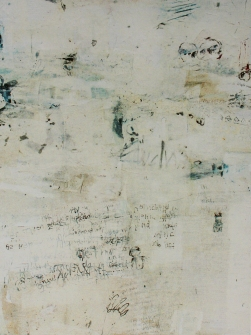"""Aber da klopft Niemand"" (Detlef), 1,40m x 1,05m, mixed media on canvas, 2002"