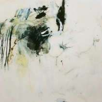 0.T., 1m x 1m, mixed media on canvas, 2003