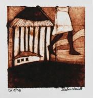 """Katatura Series"", Milk box print, 9cm x 10cm, Windhoek/Namibia 2015"