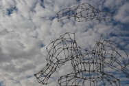 """""""Herero Dress"""", Sandra Schmidt 2015, Windhoek/Namibia. Cotton bud, wire."""