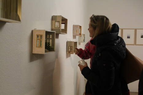 """""""The lost rooms"""" (Detail). Work in progress, Sandra Schmidt 2016. """"Inbetween"""" Ausstellung im mp43. Vernissage am 5.11.2016"""
