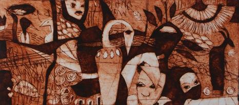 """I am in Africa"", Milk Box Print, 8,5cm x 19cm, Windhoek/Namibia 2015"