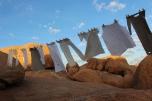 """""""Flucht-Linien"""", Istallation Sandra Schmidt 2016. Spitzkoppe, Namibia"""
