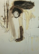 """Katrin Series"", mixed media on paper, Din A5, 2007"