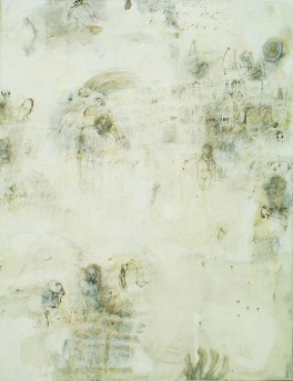 o.T. (stalking), 1,40m x 1,05m, mixed media on canvas, 2008
