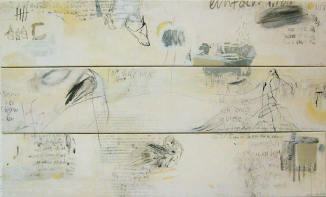 o.T., 1m x 0,60m, mixed media on transparent paper on canvas, 2006