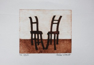 """Chairs Series"", Milk Box Print, 8,5cm x 19cm, Windhoek/Namibia 2015"