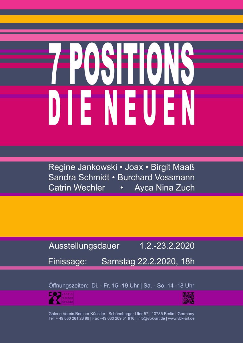 Linien 7 POSITIONS D I E N E U E N Plakat 72 klein[19677]